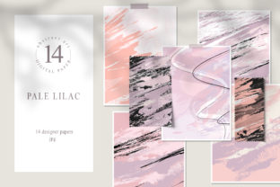 Print on Demand: Abstract Digital Paper Pack. Blush Pink Graphic Textures By Tiana Geo