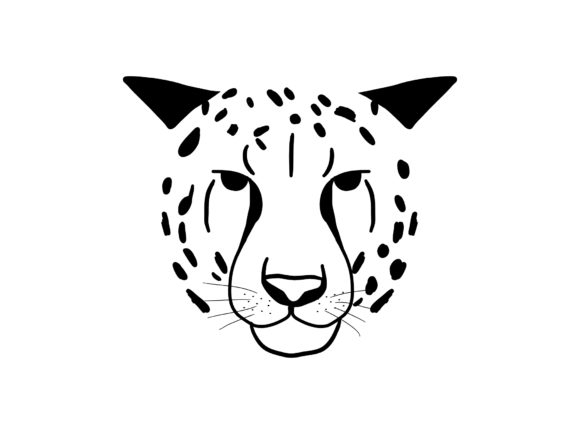 Abstract Jungle Animal Cheetah Head Graphic Print Templates By Musbila