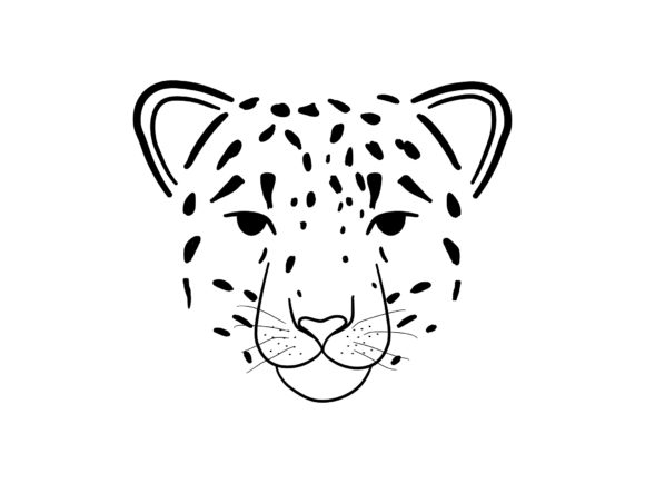 Abstract Jungle Animal Snow Leopard Head Graphic Print Templates By Musbila