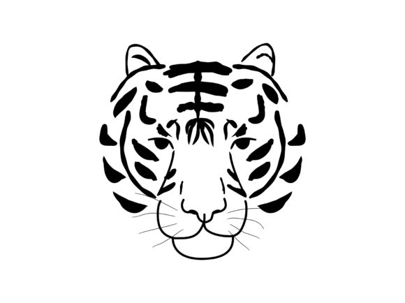 Abstract Jungle Animal Tiger Head Graphic Print Templates By Musbila
