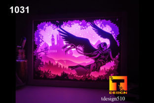 Angel Paper Cut Light Box 3D Shadow Box Graphic 3D Shadow Box By Tdesign510