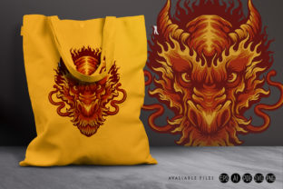 Angry Head Red Dragon Illustrations - 2