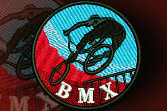 BMX Patch Camping & Fishing Embroidery Design By Samsul Huda