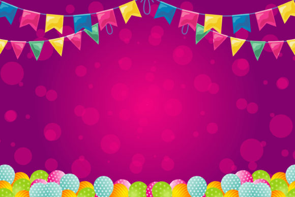 Print on Demand: Birthday Banner Best Template Graphic Illustrations By edywiyonopp