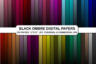 Black Ombre Digital Papers Background Graphic Backgrounds By bestgraphicsonline