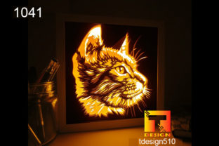 Cat Paper Cut Light Box Shadow Box 3D Graphic 3D Shadow Box By Tdesign510