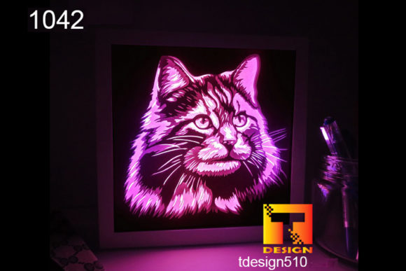 Cat Paper Cut Light Box 3D Shadow Box Graphic 3D Shadow Box By Tdesign510