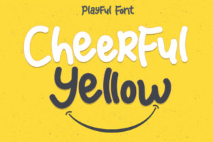 Print on Demand: Cheerful Yellow Display Font By Sakha Design
