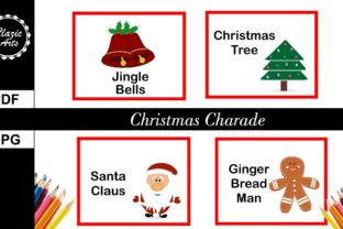 Print on Demand: Christmas Charade Graphic Print Templates By ClazicArts