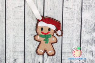 Christmas Gingerbread ITH Ornament Christmas Embroidery Design By embroiderydesigns101