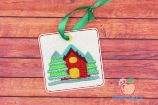 Christmas House Covered with Snow ITH House & Home Quotes Embroidery Design By embroiderydesigns101