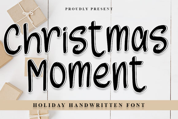 Print on Demand: Christmas Moments Display Font By NYA Letter