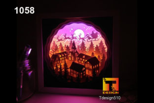 Christmas Paper Cut Light Box Shadowbox Graphic 3D Christmas By Tdesign510