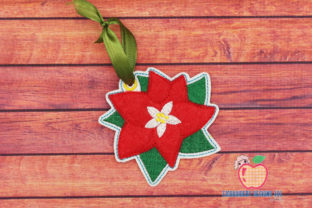 Christmas Poinsettias Ornament Christmas Embroidery Design By embroiderydesigns101