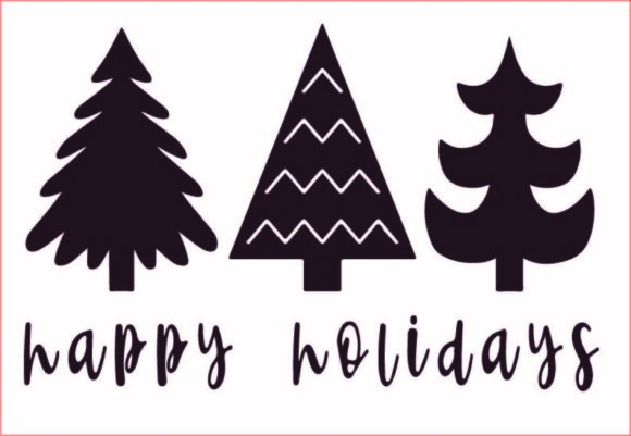 Christmas Trees, Happy Holidays Svg,png Graphic Graphic Templates By AlaBala
