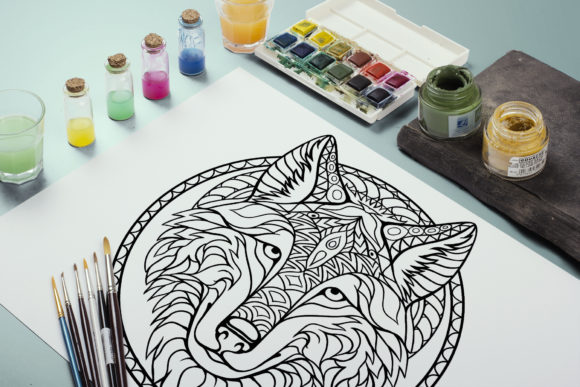 Coloring Pages with Animals and Plantsin Graphic Coloring Pages & Books Adults By artbyekaterina