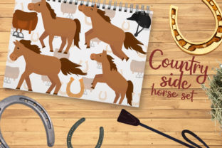 Country Side Horse Set Graphic Crafts By Firefly Designs