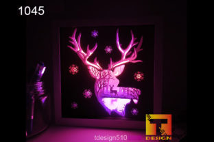 Deer Paper Cut 3D Light Box Shadow Box Graphic 3D Shadow Box By Tdesign510