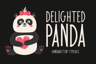 Print on Demand: Delighted Panda Script & Handwritten Font By Seemly Fonts 1