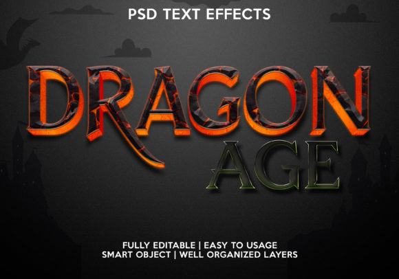 Dragon Age Text Effect Graphic Graphic Templates By gilangkenter