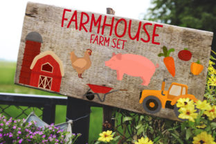 Farmhouse - Farm Set Graphic Crafts By Firefly Designs