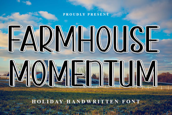 Print on Demand: Farmhouse Momentum Display Font By NYA Letter