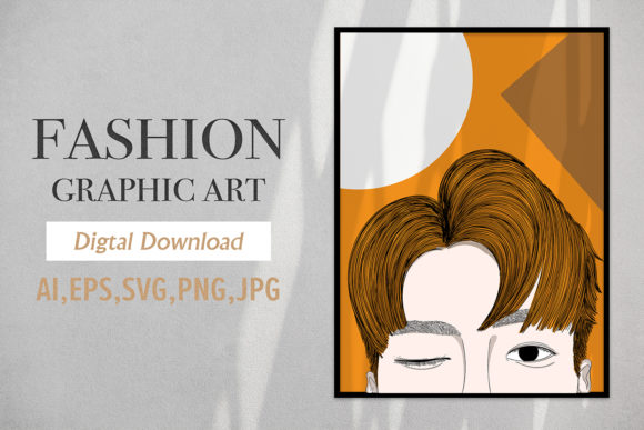 Print on Demand: Fashion Graphic Charming Men Hairstyle Graphic Illustrations By Saydung89