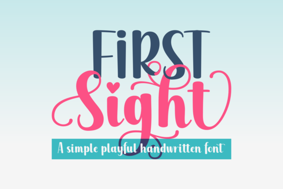 Print on Demand: First Sight Script & Handwritten Font By Jasm (7NTypes)