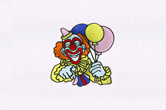 Friendly Clown Circus & Clowns Embroidery Design By DigitEMB