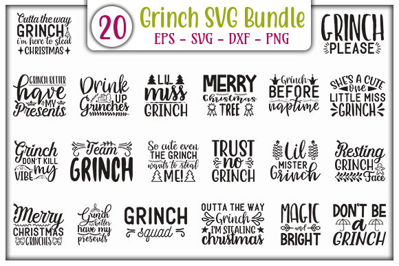 Print on Demand: Grinch Design Bundle Graphic Print Templates By GraphicsBooth