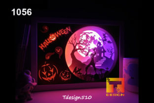 Halloween Paper Cut Light Box Shadow Box Graphic 3D Shadow Box By Tdesign510
