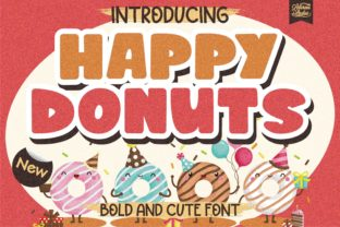 Print on Demand: Happy Donuts Display Font By letterenastudios