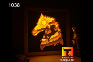 Horse Paper Cut Light Box Shadow Box 3D Graphic 3D Shadow Box By Tdesign510