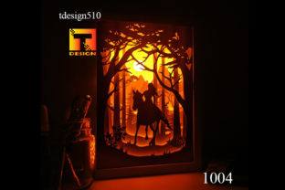 Horse Paper Cut Light Box 3D Shadow Box Graphic 3D Shadow Box By Tdesign510