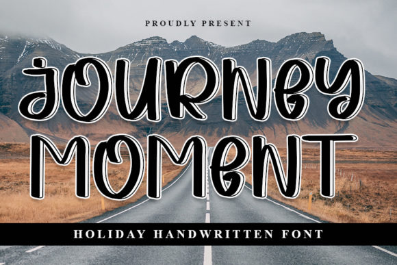 Print on Demand: Journey Moment Display Font By NYA Letter