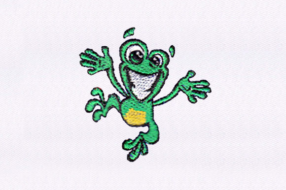Jumping Frog Reptiles Embroidery Design By DigitEMB