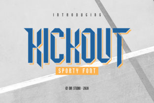 Print on Demand: Kickout Display Font By Din Studio