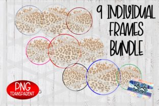 Print on Demand: Leopard Background Circle Frame Bundle Graphic Backgrounds By Lori Lou Designs