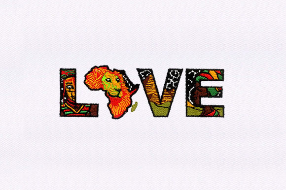 Love for Africa Africa Embroidery Design By DigitEMB