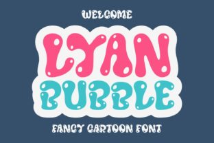 Print on Demand: Lyan Bubble Display Font By Jasm (7NTypes)