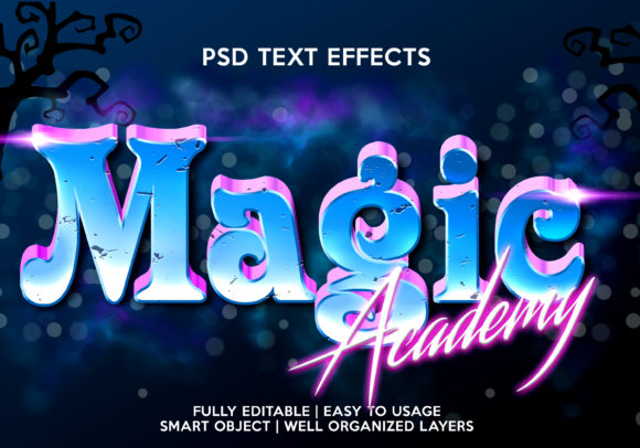 Magic Academy Text Effect Graphic Graphic Templates By gilangkenter