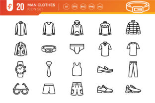 Man Clothes Icon Set Graphic Icons By ferart88