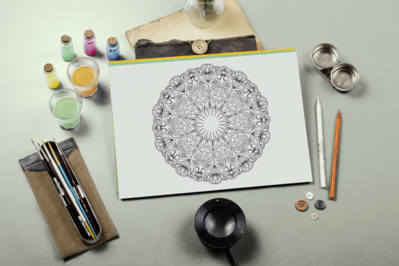 Mandala Coloring Pages Graphic Coloring Pages & Books Adults By artbyekaterina