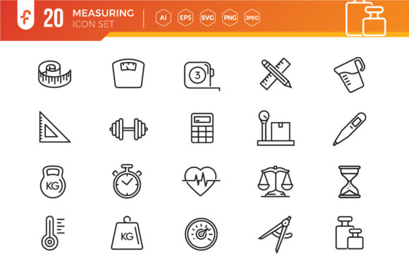 Measuring, Measure Elements Icon Set Graphic Icons By ferart88