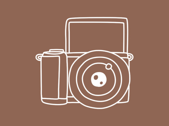 Print on Demand: Mirrorless Camera Sketch Icon Doodle Graphic Illustrations By Musbila