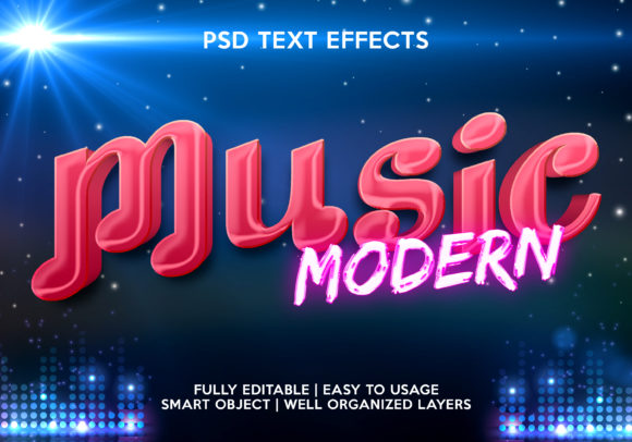 Music Modern Text Effect Graphic Graphic Templates By gilangkenter
