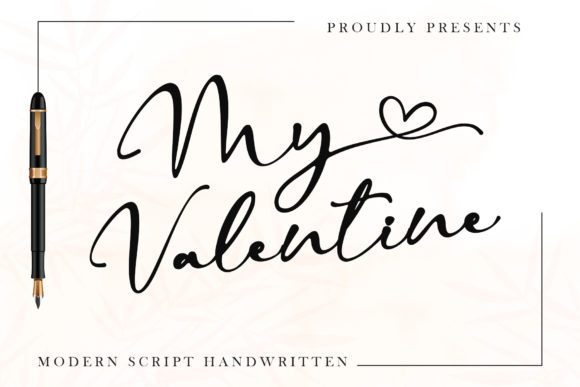 Print on Demand: My Valentine Script & Handwritten Font By thomasaradea