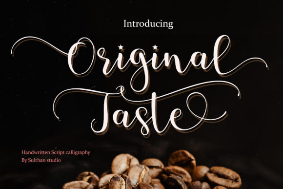 Print on Demand: Original Taste Script & Handwritten Font By Sulthan Studio