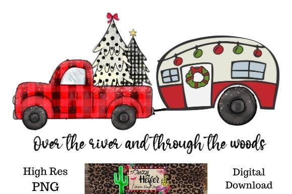 Print on Demand: Over the River and Through the Woods Graphic Illustrations By Crazy Heifer Design Shoppe