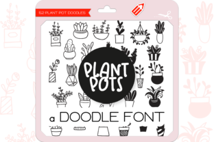 Print on Demand: Plant Pots Dingbats Font By WADLEN